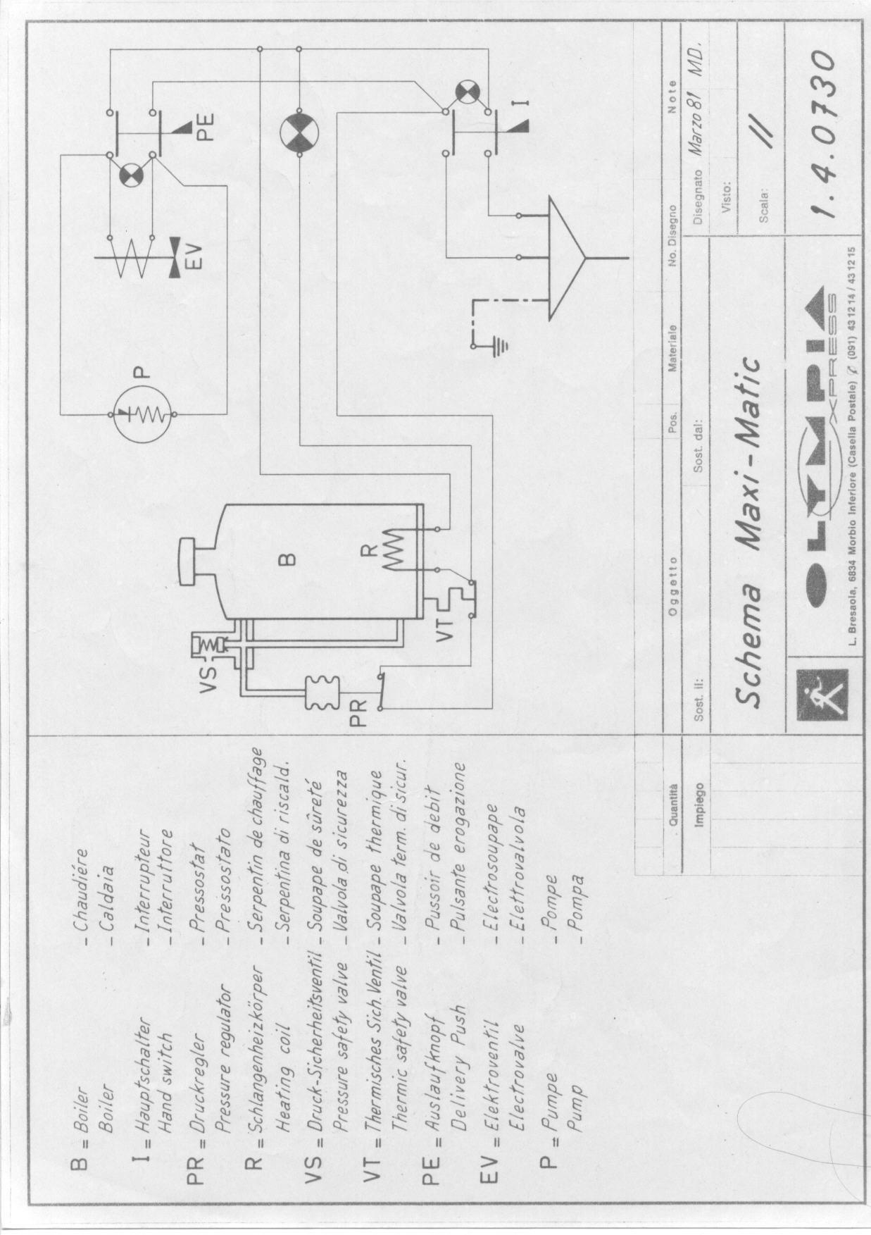 electrical diagram maximatic tav 38